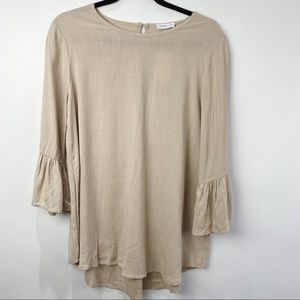 From Palmer oversized bell sleeve boho top